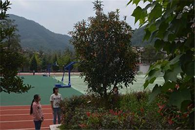 万源市黄钟职业中学-校园一角